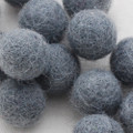 100% Wool Felt Balls - 10 Count - 2cm - Battleship Grey