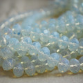 30 Opalite Moonstone Faceted Rondelle Disc Beads 8 x 6mm