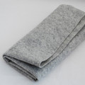 100% Wool Felt Fabric - Approx 1mm Thick - Natural Light Grey - 45cm x 50cm
