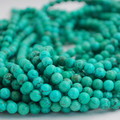 Semi-Precious Gemstone Green Turquoise Round Beads 4mm, 6mm, 8mm, 10mm