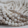 White Turquoise (dyed) Semi-precious Gemstone Round Beads 4mm, 6mm, 8mm, 10mm