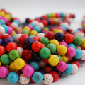 Semi-Precious Gemstone Mixed Colour Turquoise Round Beads 4mm, 6mm, 8mm, 10mm