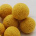 100% Wool Felt Balls - 5 Count - 3cm - Mustard