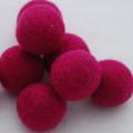 100% Wool Felt Balls - 5 Count - 3cm - Azalea Pink