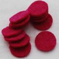 100% Wool Felt Die Cut Circles - 3cm - 10 Count - Azalea Pink