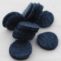 100% Wool Felt Die Cut Circles - 3cm - 10 Count - Charcoal Grey