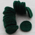 100% Wool Felt Die Cut Circles - 3cm - 10 Count - Dark Green