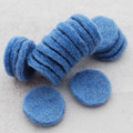 100% Wool Felt Die Cut Circles - 3cm - 10 Count - French Blue