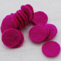100% Wool Felt Die Cut Circles - 3cm - 10 Count - Garden Rose Pink