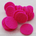 100% Wool Felt Die Cut Circles - 3cm - 10 Count - Hot Pink