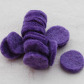 100% Wool Felt Die Cut Circles - 3cm - 10 Count - Lavender Purple