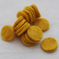 100% Wool Felt Die Cut Circles - 3cm - 10 Count - Mustard Yellow