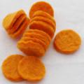 100% Wool Felt Die Cut Circles - 3cm - 10 Count - Orange