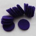 100% Wool Felt Die Cut Circles - 3cm - 10 Count - Purple