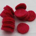 100% Wool Felt Die Cut Circles - 3cm - 10 Count - Ruby Pink