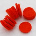 100% Wool Felt Die Cut Circles - 3cm - 10 Count - Tangelo Orange