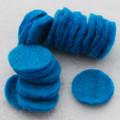 100% Wool Felt Die Cut Circles - 3cm - 10 Count - Teal Blue