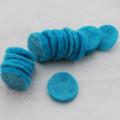 100% Wool Felt Die Cut Circles - 3cm - 10 Count - Turquoise