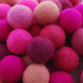 100% Wool Felt Balls - 100 Count - 2.5cm - Pink Colours