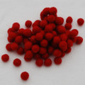 100% Wool Felt Balls - 50 Count - 1cm - Red