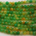 Semi-Precious Gemstone Green Watermelon Jade Round Beads 4mm, 6mm, 8mm, 10mm