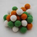 100% Wool Felt Balls - 30 Count - 2cm - St. Patrick's Day