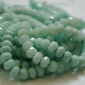 30 x Semi-Precious Gemstone Amazonite Beads Faceted Rondelle 10 x 8mm