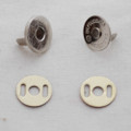 10 Sets Extra Thin Magnetic Snap Button Bag Clasp - 14mm - Silver
