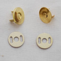 10 Sets Extra Thin Magnetic Snap Button Bag Clasp - 14mm - Gold