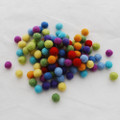 100% Wool Felt Balls - 100 Count - Rainbow Colours - 1cm