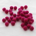 100% Wool Felt Balls - 50 Count - 1cm - Azalea Pink