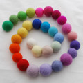 100% Wool Felt Balls - 30 Count - 3cm - 30 Colours
