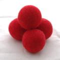 100% Wool Felt Balls - 5 Count - 4cm - Red