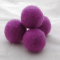 100% Wool Felt Balls - 5 Count - 4cm - Amethyst Purple
