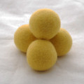 100% Wool Felt Balls - 5 Count - 4cm - Mustard Yellow