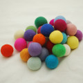 100% Wool Felt Balls - 30 Count - 4cm - Assorted Light & Bright Colours