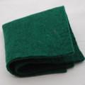 "Handmade 100% Wool Felt Sheet - Approx 5mm Thick - 12"" Square - Dark Green"