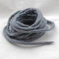100% Wool Felt Cord - Handmade - 3 Metres - Battleship Grey