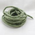 100% Wool Felt Cord - Handmade - 3 Metres - Pistachio Green