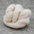 Organic Merino Wool Tops / Roving - Natural Ivory White - 100g