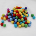 100% Wool Felt Balls - 100 Count - 2cm - Rainbow Colours