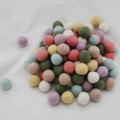 100% Wool Felt Balls - 100 Count - 2cm - Pastel Colours