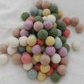 100% Wool Felt Balls - 100 Count - 2.5cm - Pastel Colours