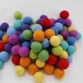 100% Wool Felt Balls - 100 Count - 3cm - Rainbow Colours