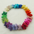 Assorted 100% Wool Felt Stars - 30 Count - Light & Bright Colours