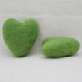 100% Wool Felt Heart - 6cm - Asparagus Green