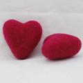 100% Wool Felt Heart - 6cm - Azalea Pink