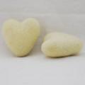100% Wool Felt Heart - 6cm - Cream