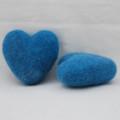 100% Wool Felt Heart - 6cm - Dress Blue