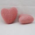 100% Wool Felt Heart - 6cm - Dusty Rose Pink